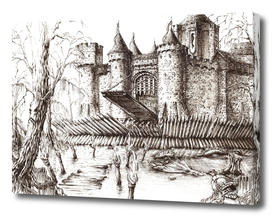 Swamp Fortress ink