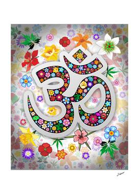 Namaste Floral Symbol