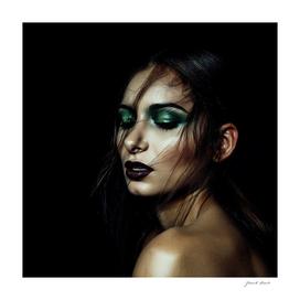 Dark Girl's Face