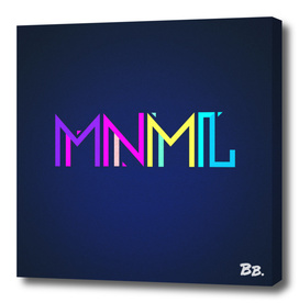 Minimal Type (Colorful Edm) Typography - Design