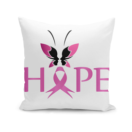 Pink ribbon with HOPE