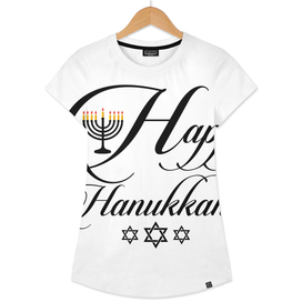 Happy Hanukkah- Jewish holiday celebration