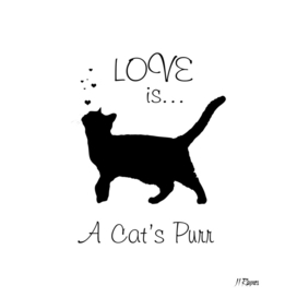 Love is a Cat's Purr Typography