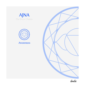 Ajna- The brow chakra which stands for awareness.