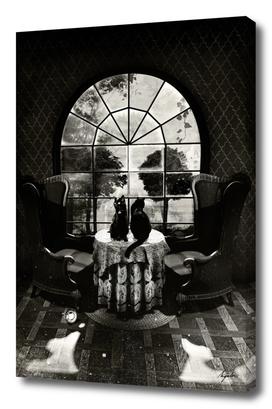 Room Skull - b&w