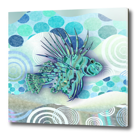 3D Blue Lion-Fish.