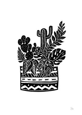 Botanical Pot Block Print