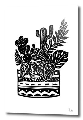Botanical Pot Block Print