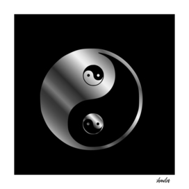 Ying yang the symbol of harmony and balance- good and evil