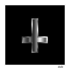 An inverted cross