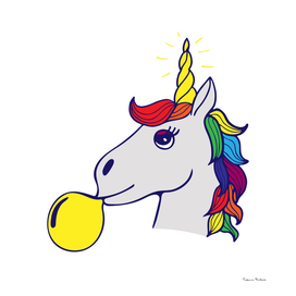 Unique hand-drawn lettering about unicorns - be unicorns.