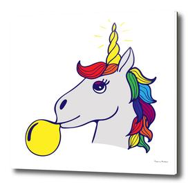 Unique hand-drawn lettering about unicorns - be unicorns.
