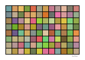 Colored Squares on black Background