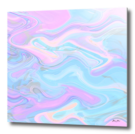 Sea Marble Candy Pattern - Violet, aqua and blue