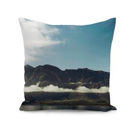 Cloudy dark mountains