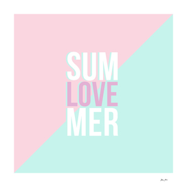 Pastel Candy 'SUMMER LOVE' - Pink & Turquoise