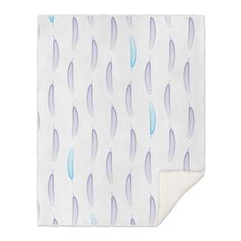 Geometric Feather Pattern - Purple & Blue #759