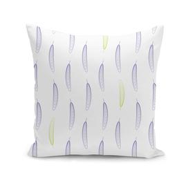 Geometric Feather Pattern - Purple & Green #398