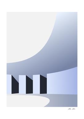 vector 3d Arch Light-shadow
