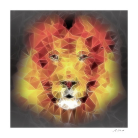 lion on fire