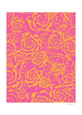 Succulent Stamp - Pink & Orange #315