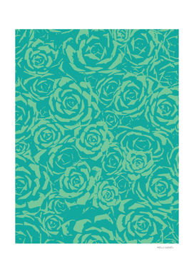 Succulent Stamp - Teal & Green #682