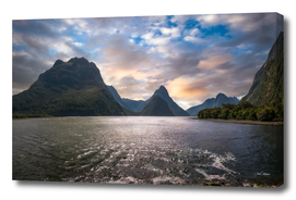 Epic Sunset at Milford Sound