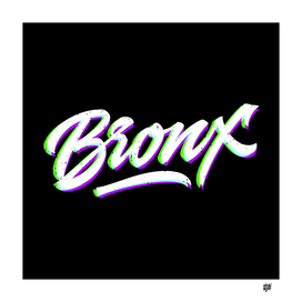 BRONX New York hand made lettering in original style