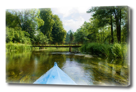 Canoe kayak on the river