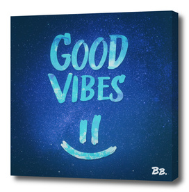 Good Vibes - Funny Smiley Statement / Happy Face