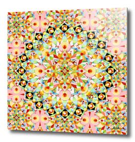 Pink Pastel Carousel Mandala