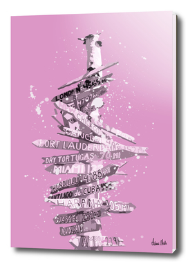 Graphic Art SIGNPOST | pink
