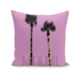 Graphic Art PALM TREES MIAMI | pink