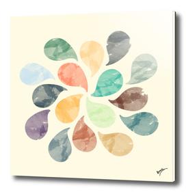 Colorful Water Drops (Watercolor version)
