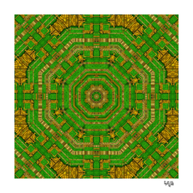 wonderful mandala of green and golden love