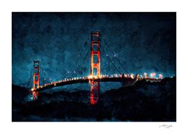 Digital Painting - San Francisco Bridge