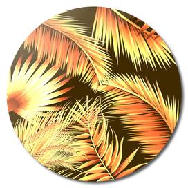 Brown palm leaves