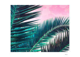 Nostalgic Palm Leaves on Pink