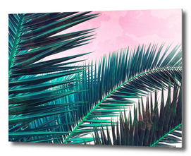 Nostalgic Palm Leaves on Pink
