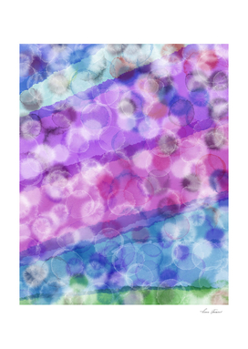 WATERCOLOR WITH BUBBLES PINK