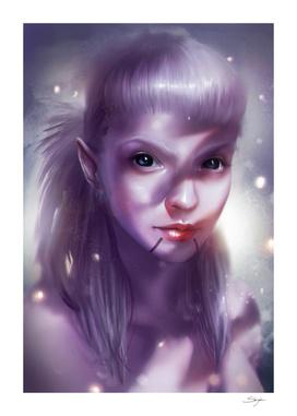 Alien Girl Face