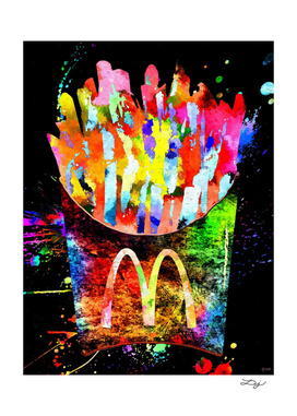 McDonald's French Fries Grunge