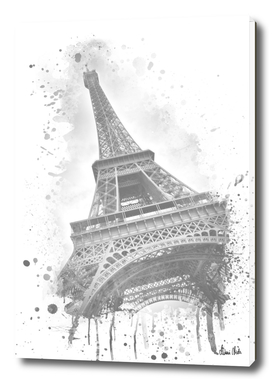 Watercolor Eiffel Tower | grey
