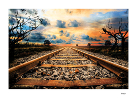 Railway Track Skyline