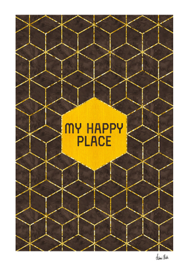 GRAPHIC ART GOLD My happy place | brown