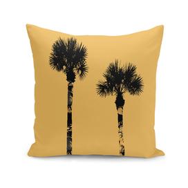 Graphic Art PALM TREES | yellow