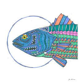 'Bass' head- fish