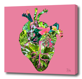 Botanical Heart Pink