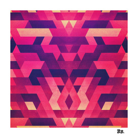 Abstract red geometric triangle texture pattern design
