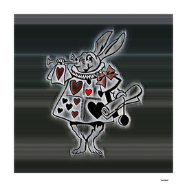Rabbit Playing Bugle Dark